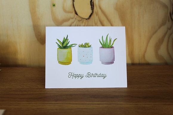 Happy birthday houseplants card