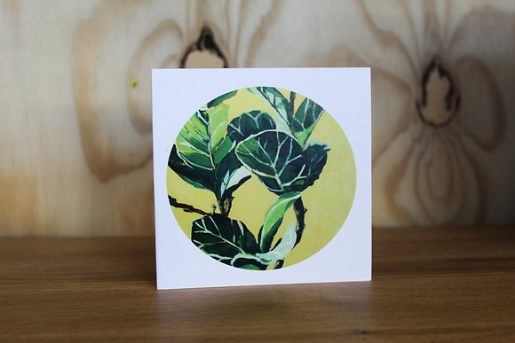 Fiddle leaf fig card