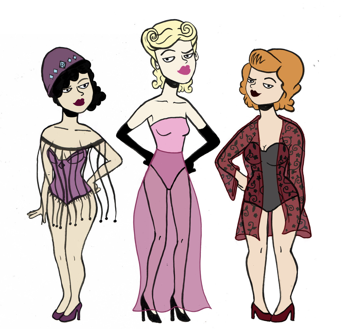 1940's character designs