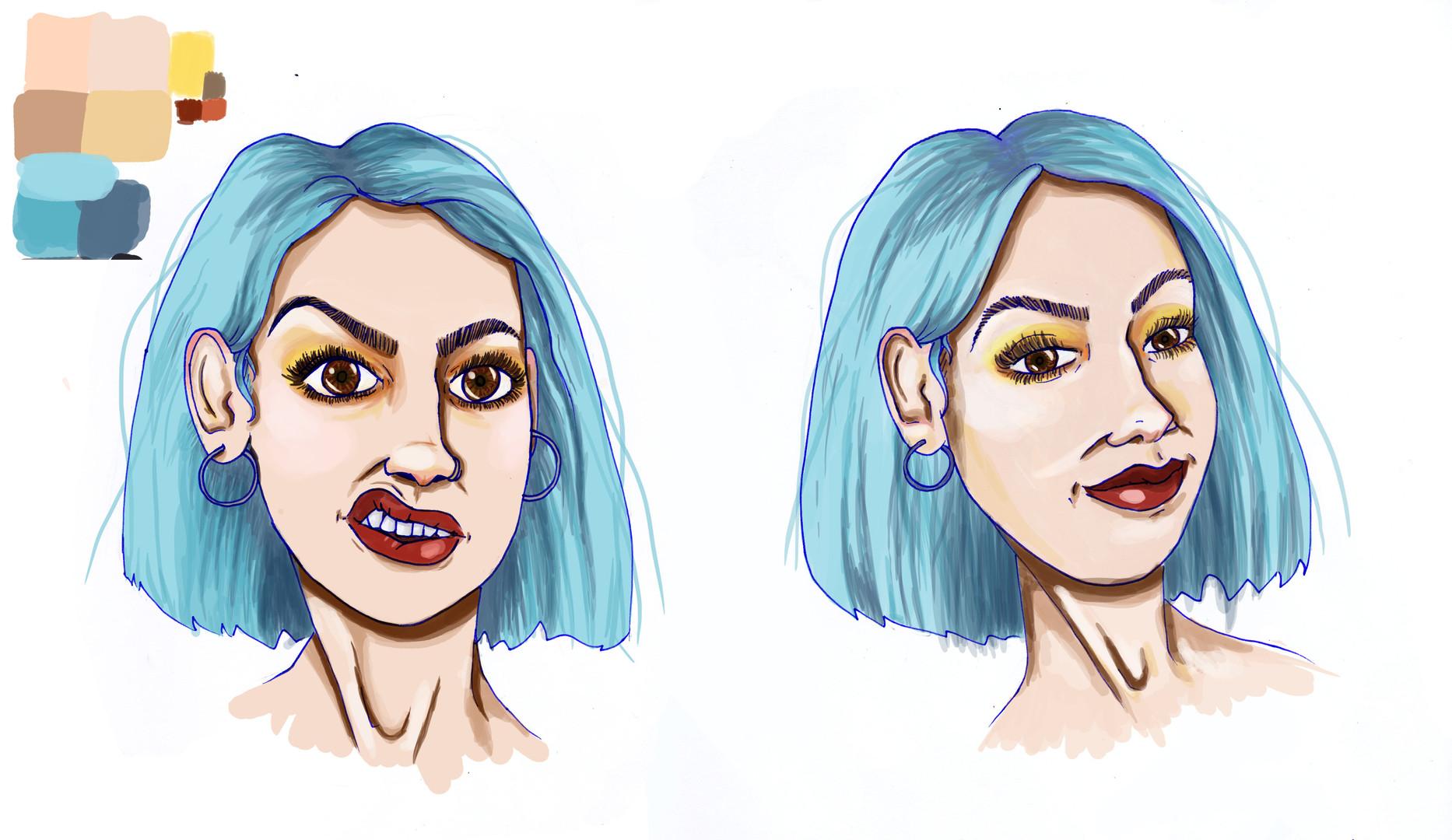 Eva faces