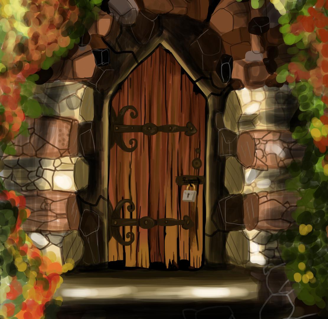 Concept secret door illustration
