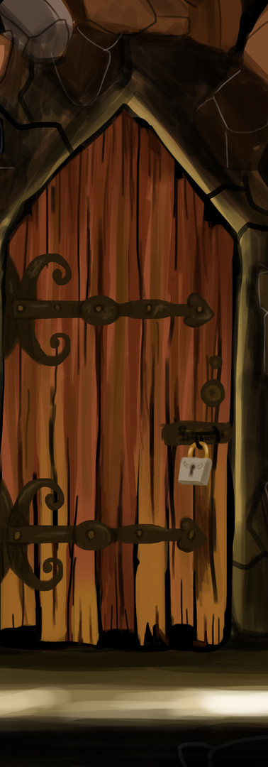 Concept secret door illustration