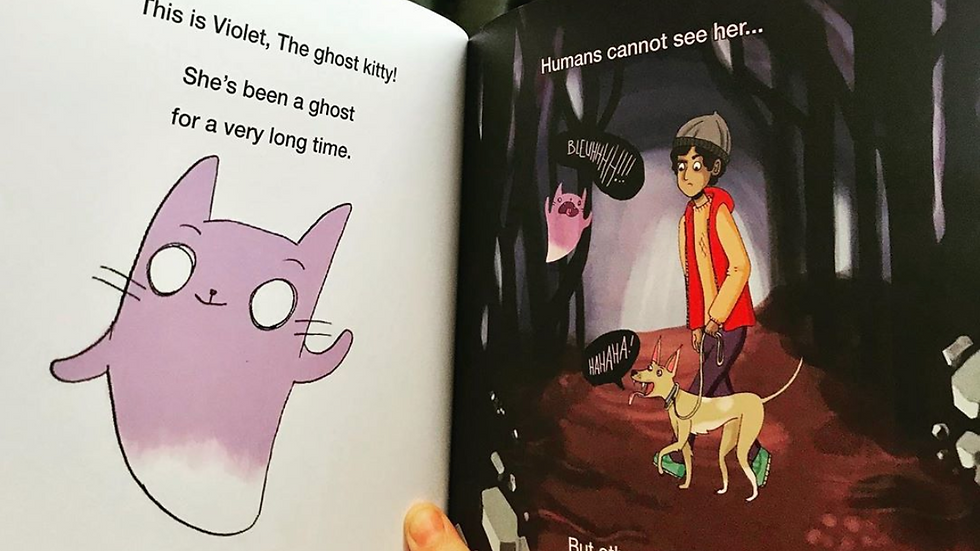 Violet The Ghost Kitty - Signed copy