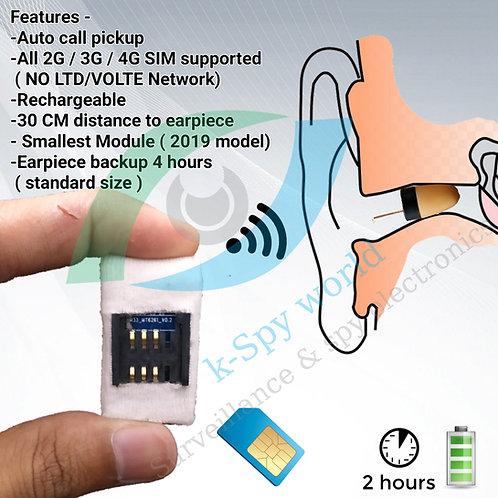 हिडन इयरफ़ोन सबसे छोटा जीएसएम बॉक्स स्पाई ईयरपीस या हिडन इयरफ़ोन- Kspyworld के साथ