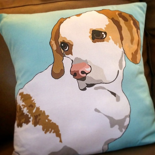 Personal Pet Portrait Pillow