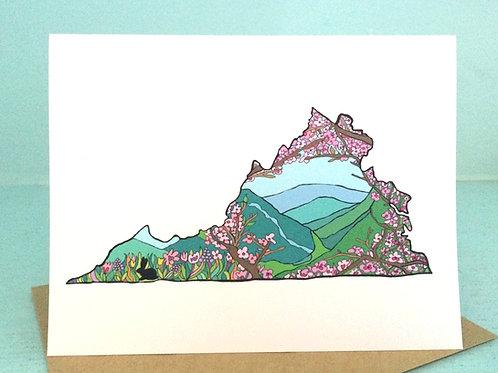 """Spring in Virginia Love"" Greeting Card"