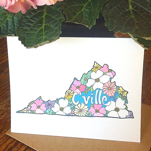 """Cville Love"" Greeting Card"