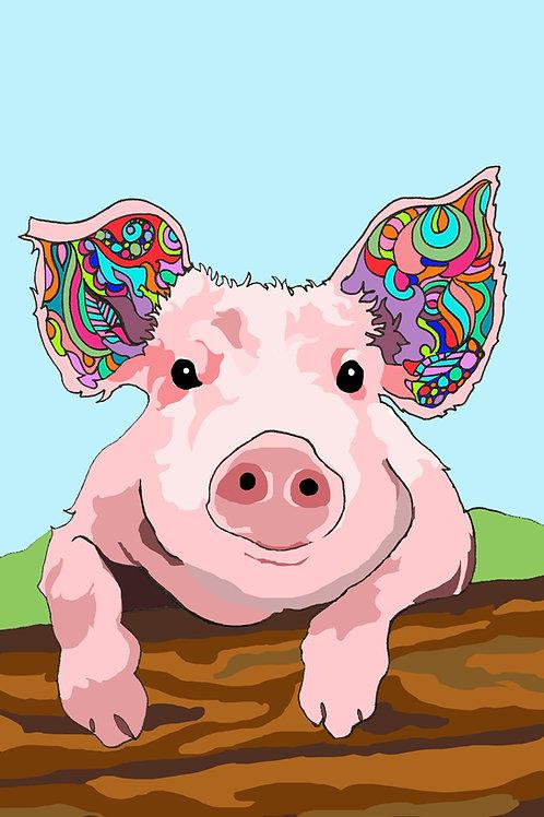 """Pig Love"" Print"