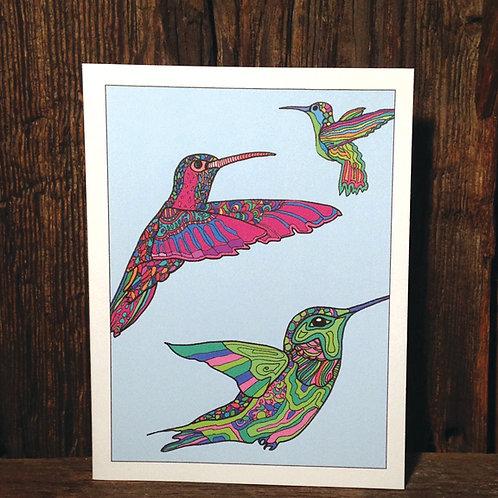 """Hummingbird Love"" Greeting Card"