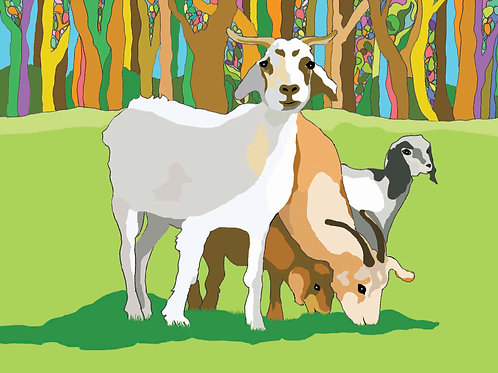 """Goat Love"" PRINT"