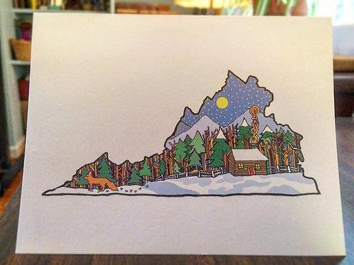 """Winter in Virginia Love"" Greeting Card"