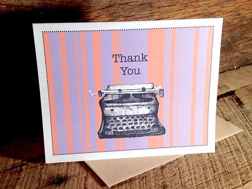 """""""Typewriter Love"""" Greeting Card"""