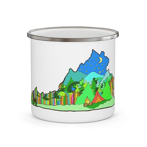 """Enamel Camping Mug """"Summer in Virginia"""""""