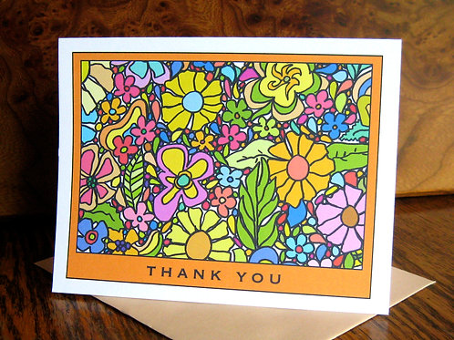 """Spring Love"" Greeting Card - Thank You"