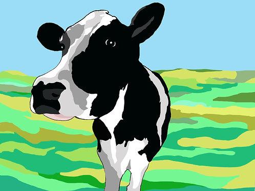 """Cow Love"" Print"