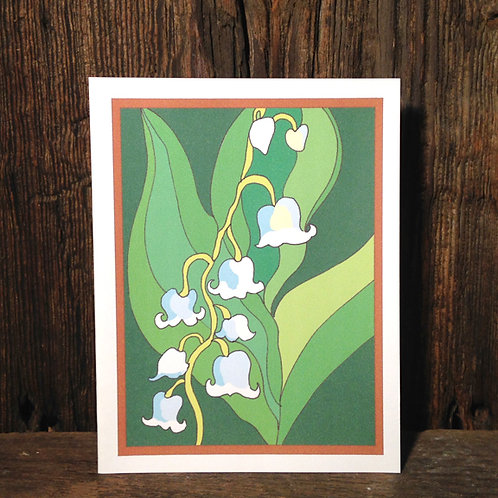 """""""Lily of the Valley Love"""" Greeting Card"""