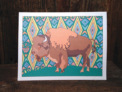"""Bison Love"" Greeting Card"