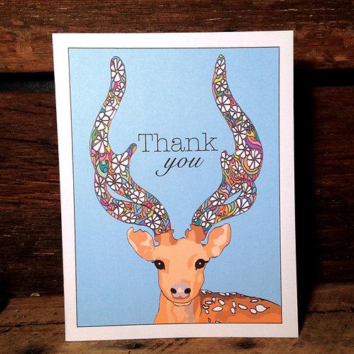 """""""Deer Love"""" Greeting Card"""