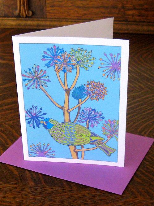 """""""Bird in Tree Love"""" Greeting Card"""