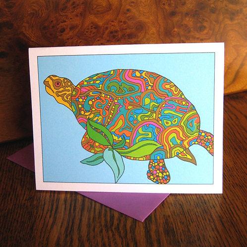 """Turtle Love"" Greeting Card"