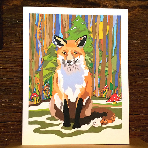 """Fox Love"" Greeting Card"