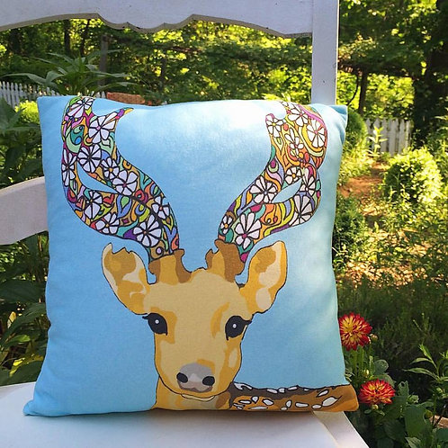 """Deer Love"" Designer Pillow"
