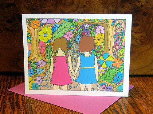 """Sisterly Love"" Greeting Card"