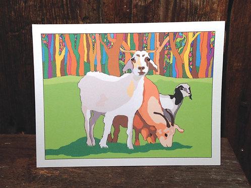 """Goat Love"" Greeting Card"