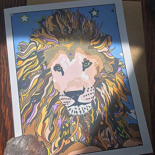 """Lion Love"" Greeting Card"