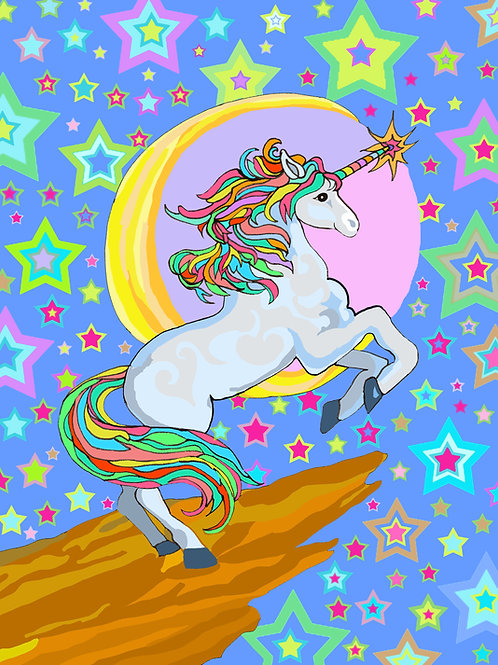 """Unicorn Love"" 8 x 10 inch Unframed Print"