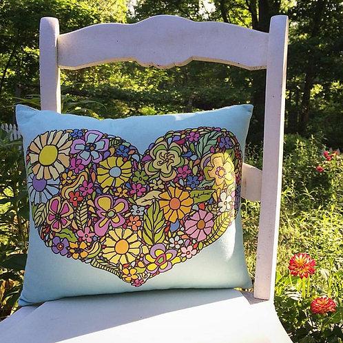 """""""Flower Heart"""" Designer Pillow"""