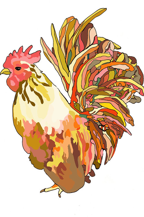 """""""Rooster Love"""" Print"""