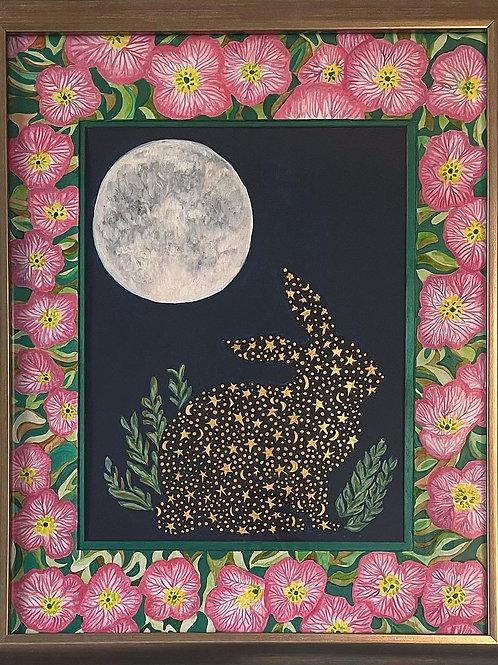 MoonRabbit LOVE - Unframed Print 8 x 10 inches