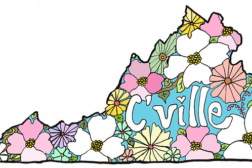 """Cville Love""  Unframed Print"