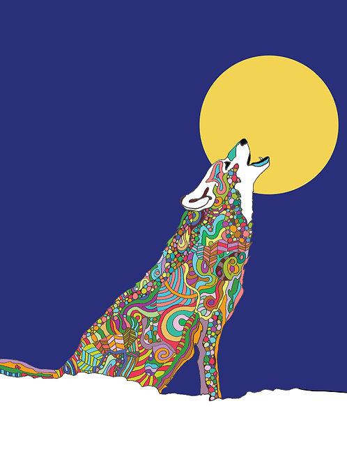 """Wolf Love"" Print"