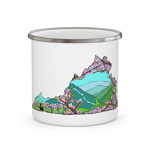 "Enamel Camping Mug ""Spring Love in Virginia"""