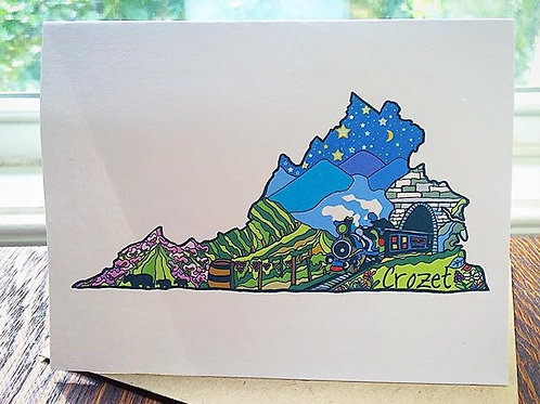 """Crozet Love"" Greeting Card"