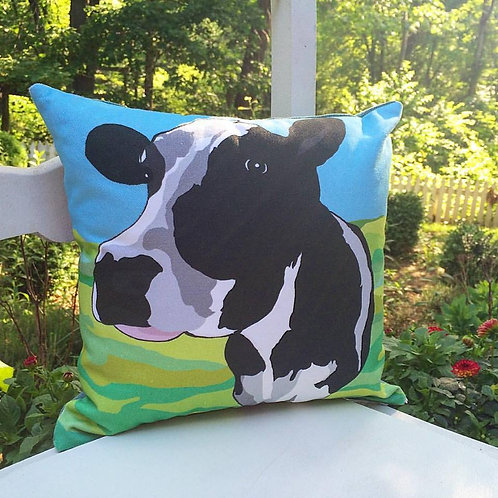 """Cow Love"" Designer Pillow"