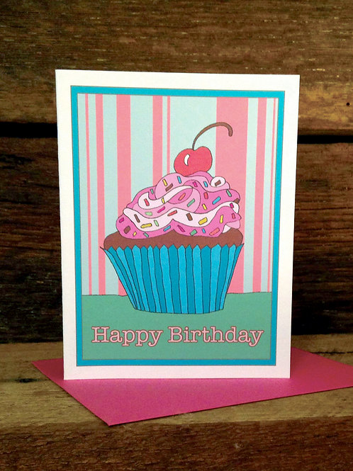 """Cupcake Love"" Greeting Card"