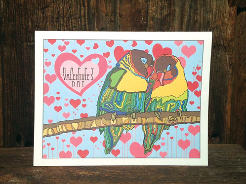 """Love Birds"" Greeting Card - Happy Valentine's Day"