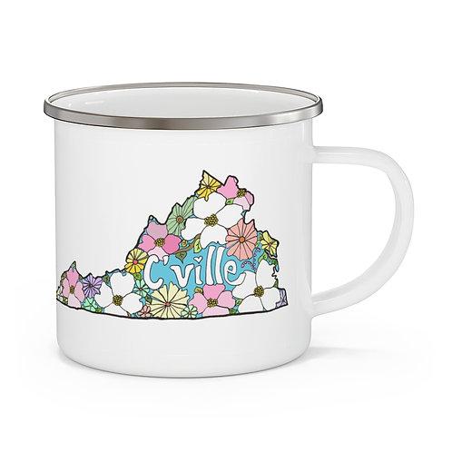 """"""" Cville LOVE"""" Enamel Camping Mug"""