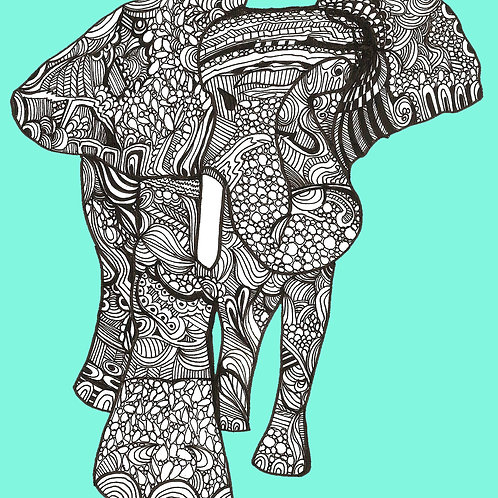 """Elephant Love"" PRINT"