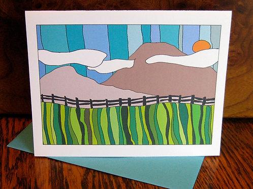 """Mountain Love"" Greeting Card"