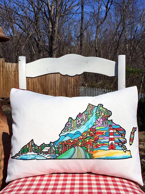 """Four Seasons in Virginia"" Designer Pillow"