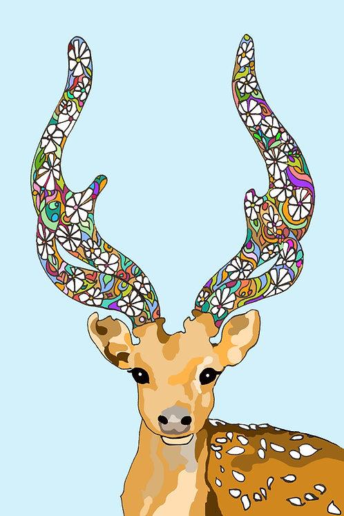 """""""Deer Love"""" Print"""
