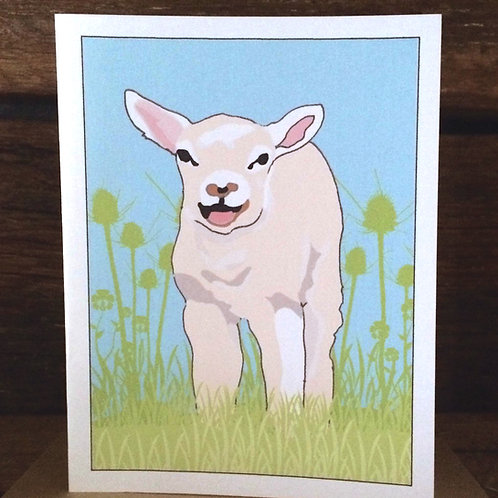 """Lamb Love"" Greeting Card"