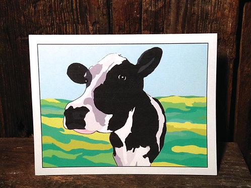 """Cow Love"" Greeting Card"