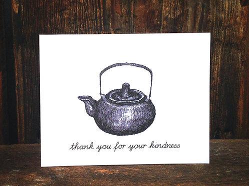 """""""Teapot Love"""" - Black and White Illustration"""