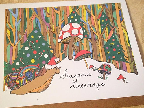 """""""Snail Mail Love"""" Greeting Card"""