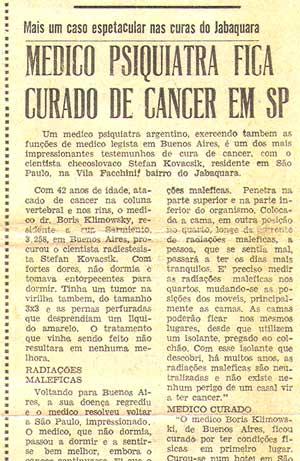 Médico psiquiatra fica curado de câncer em SP